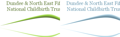 The logo-header-footer graphic designed for the Dundee branch of the NCT